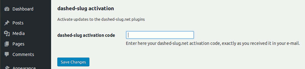 Activate updates to the dashed-slug.net plugin extensions.