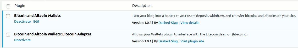 Patch release 1.0.1 of the Litecoin adapter extension to the free Bitcoin and Altcoin Wallets WordPress plugin.