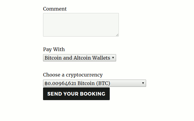 Let logged in users pay for tickets in Events Manager Pro from their cryptocurrency wallet.