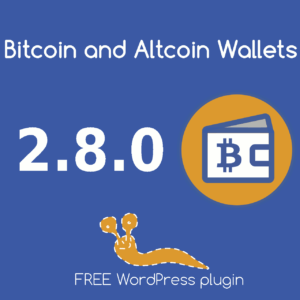 Version 2.8.0 of the Bitcoin and Altcoin Wallets free WordPress plugin