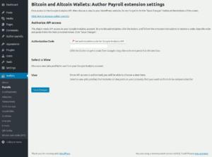 Authorizing access to Google Analytics API