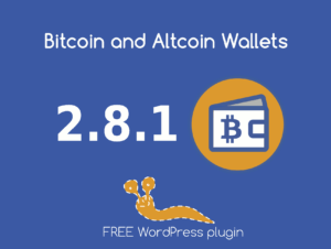 Version 2.8.1 of the Bitcoin and Altcoin Wallets free WordPress plugin