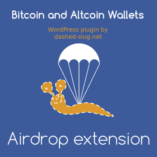 Airdrop extension for Bitcoin and Altcoin Wallets for WordPress