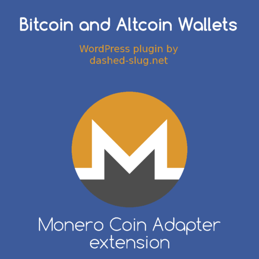 Monero Coin Adapter extension for the Bitcoin and Altcoin Wallets FREE WordPress plugin
