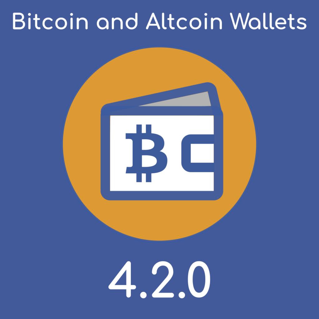 Bitcoin and Altcoin Wallets WordPress plugin version 4.2.0.