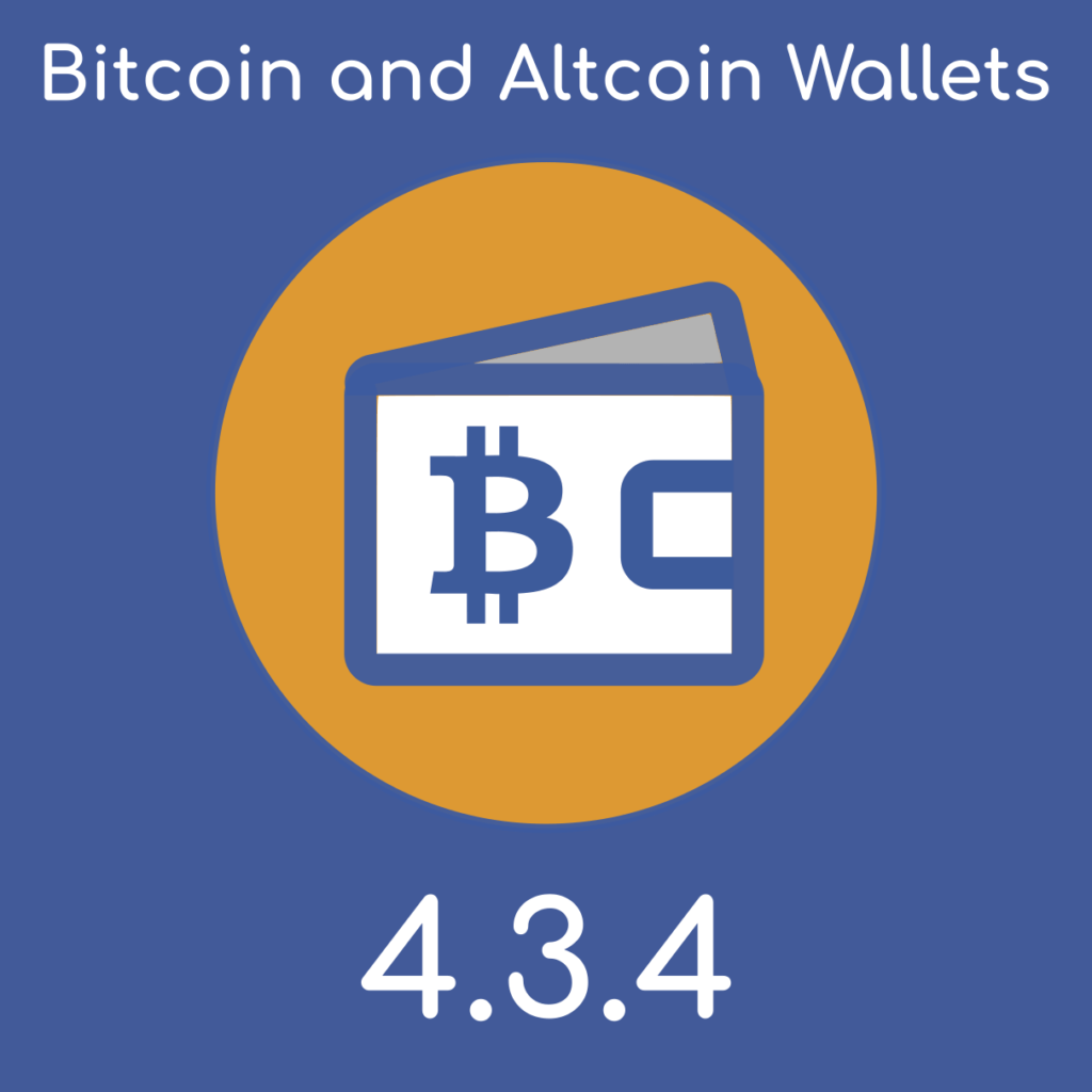 Bitcoin and Altcoin Wallets version 4.3.4 for WordPress.
