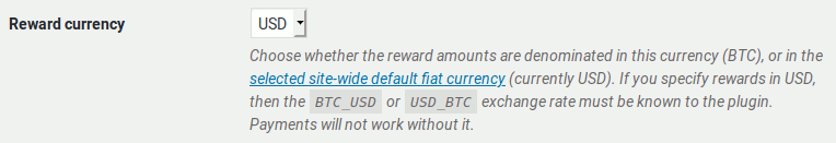 Reward currency setting for faucet.